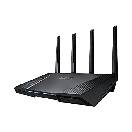 ASUS RT-AC87U - Router inalámbrico Dual-Band AC2400 (Gigabit, Modo Punto de acceso, Soporte dongle 3G/4G), color negro