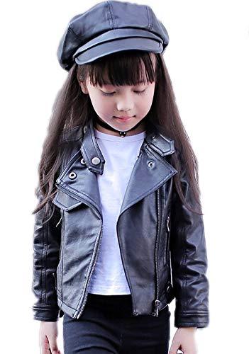 Kids Black Leather Jackets for Girls