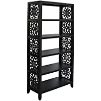 Pulaski Martin Bookcase, 36 by 16 by 75-Inch, Black