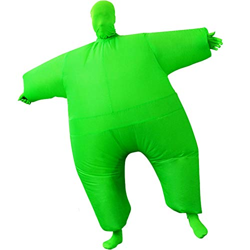 HUAYUARTS Inflatable Full Body Suit Costume Adult Funny Cosplay Cloth Party Toy Gift for Halloween Christmas, Free Size, Green -