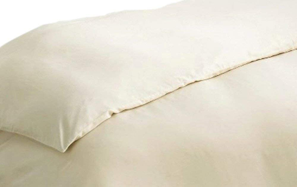Gotcha The Pure Collection Organic Cotton Sateen Duvet Cover Queen Natural