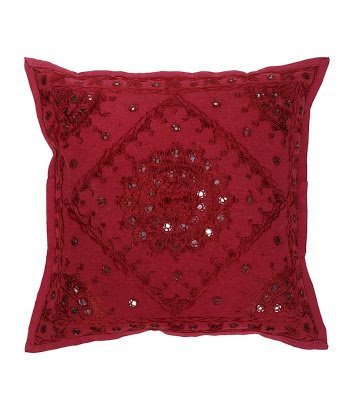 Amazon.com: nandnandini -16 x 16 Beautiful Maroon indio ...