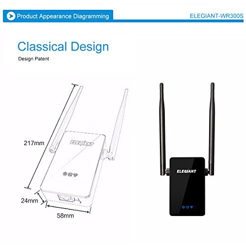 WiFi Range Extender, ELEGIANT 300Mbps Wireless WiFi Repeater Signal Amplifier Booster Supports Router Mode/Repeater/ Access Point, with High Gain Dual External Antennas and 360 degree WiFi Coverage by ELEGIANT (Image #8)