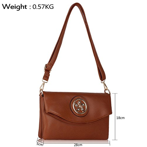 Xardi London, Borsa a spalla donna medium Brown