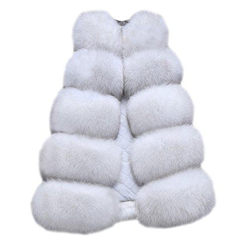 Gilet Nature Top Jacket Women's Long Waistcoat Slim Faux Fur Outwear Coat Vest HxqAnwT1Zq