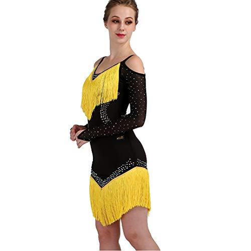 Danza 1 Di Latino Cha Abiti Maniche Prestazioni Ballo Le Per Lunghe Vestito Latina Rumba maniche Gonna Donne Tango Gonne Professionali Da Costumi Senza gFq8fwqAx
