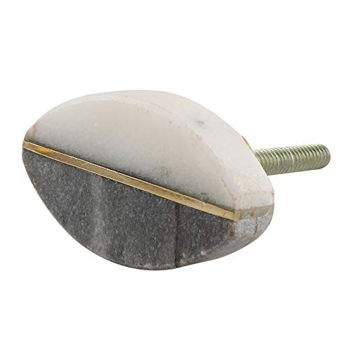 - Indianshelf Handmade 2 Piece Stone Grey Oval Furniture Pulls Artistic Rust Free Drawer Knobs New Collection