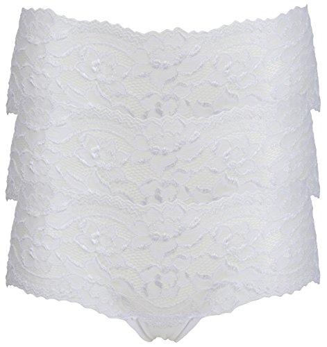 Ex Store Floral Encaje Bandeau bajo Rise pantalones cortos calzoncillos 3 Pack White