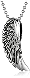 """Cold Steel Men's Stainless Steel Angel Wing Pendant Necklace, 22"""""""