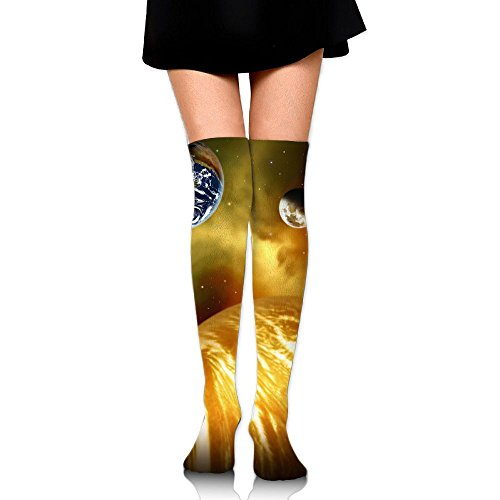 Lunar Surface Over The Knee Long Socks Tube Thigh-High Sock Stockings For Girls & Womens -
