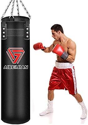 Red Heavy Boxing Bag Punch Boxing Sandbag Kickboxing Training Equipment