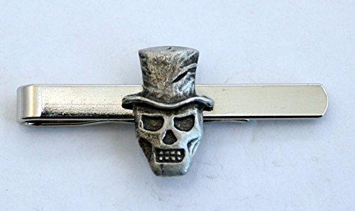 Baron Samedi Voodoo Tie Clip (Slide) in Fine English Pewter (Gift Boxed)