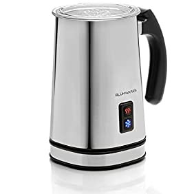 Blümwares Vienne Automatic Milk Frother and Heater | Stainless Electric Carafe | Frother, Warmer, and Cappuccino Maker