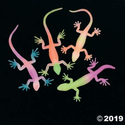 Fun Express G-I-D NEON Painted Lizards - Toys - 12 Pieces: Toys & Games