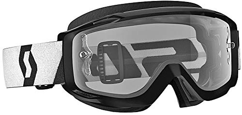 Scott Split OTG Adult Off-Road Motorcycle Goggles - Black/White / Clear/One ()