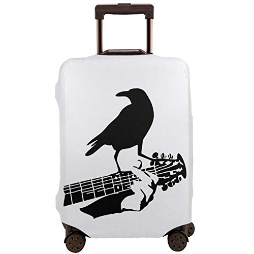 (Travel Suitcase Protector Crow Guitar Cute Print Cover)