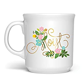 Fred SAY ANYTHING Gold Accent Coffee Mug, 16-Ounce, Moist, Regular –