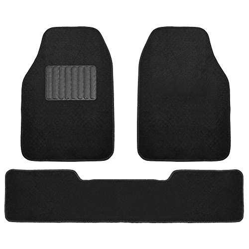 FH Group F14405BLACK Black Carpet Floor Mat with Driver Heel Pad