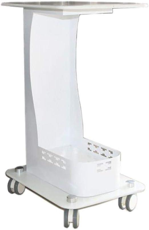Carros de mantenimiento Carro Móvil para Instrumentos de Salón de Belleza para Salón de Belleza Barber Shop SPA, Rueda Universal con Freno, Capacidad de 100Kg (Color : White, Size : 38×45×72cm): Amazon.es: