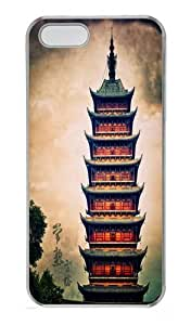 Changshu Square Tower Custom iPhone 5s/5 Case Cover Polycarbonate Transparent Black Friday gift