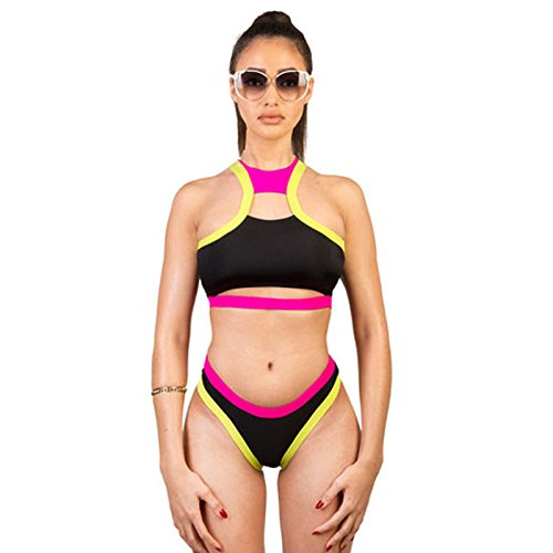 X&L Strand, lässig, sexy, Bi-Color, niedrige Taille, Bikini, Dreieck, Split, Bademode