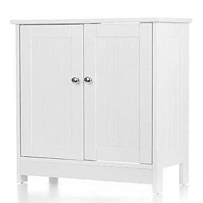 "iKayaa Modern Under Sink Storage Cabinet with 2 Doors Bathroom Vanity Furniture 23.6"" H x 23.6"" L"