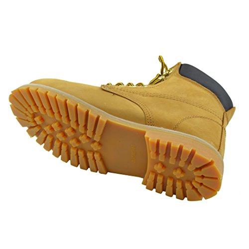 Stivali Da Uomo In Pelle Resistente Allolio Lavoro Escursioni Scarpe Imbottite Abbronzatura Tan