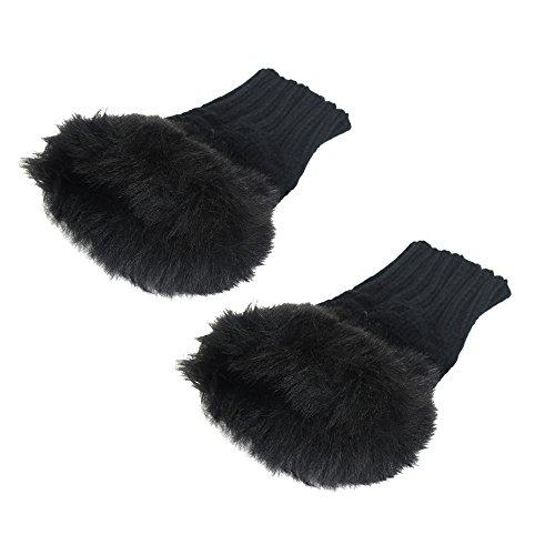 Hot Sale!!! Hennta Women's Warm Winter Brief Paragraph Knitting Half Fingerless Gloves Soft Warm Mitten