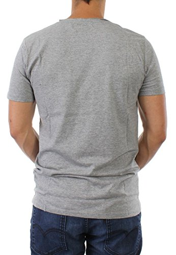 Shine T-Shirt Men 40306 Grey Melange
