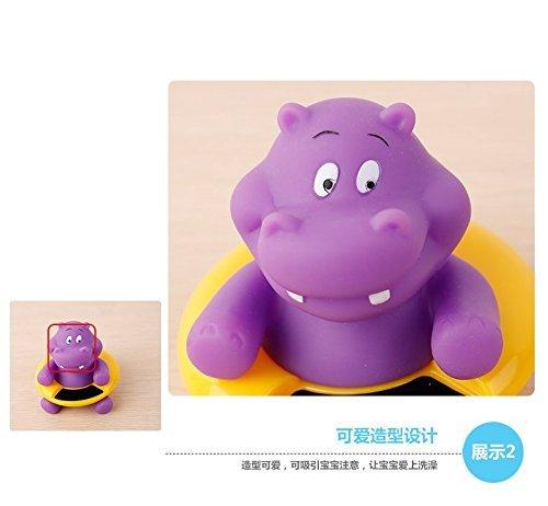 Lanlan Cartoon Baby Bath Water Thermometer Cute Animal Shaped Temperature Tester Hippo