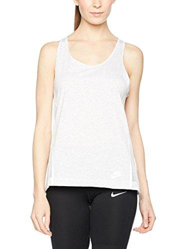 Nike Women's Bonded Tank Top, Birch Heather Black, SM