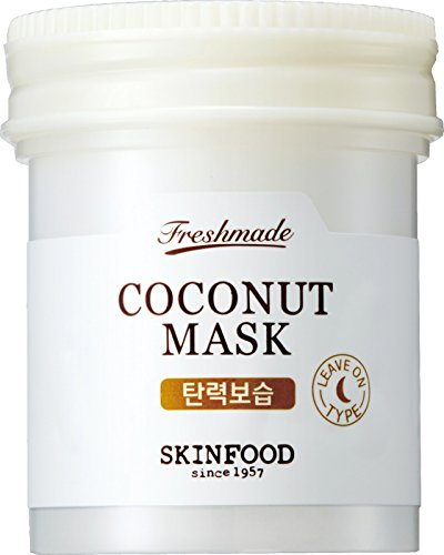 SKIN FOOD Freshmade Coconut Mask 3.04 fl.oz. (90ml) - Coconut Milk Hydrating & Firming Facial Sleeping Mask, Hypoallergenic Gel type Leave-on Treatment for Smooth & Resilient Skin