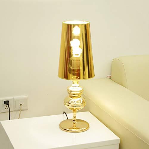 JINYATING Modern Design Chrome Fashion Side Lamp Table Desk Lighting Personality Light Decoration Lamp Ac220V,Gold