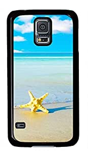 Beach Starfish Theme Hard Back Cover Case For Samsung Galaxy S5 I9600 Case by ruishername