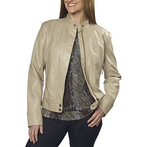 BERNARDO-Womens-Faux-Leather-Moto-Jacket-Tan-Soft-Wheat-Small