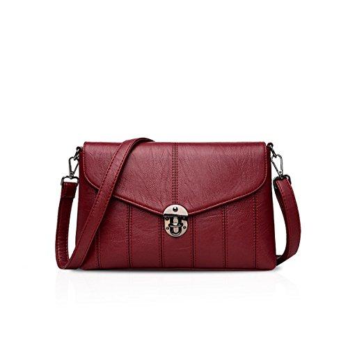 Bolso PU NICOLE de amp;DORIS B Mujer Bandolera Hombro Bolsos de Rojo Bags Bag Bolsa Mensajero Crossbody Señoras r6RwYr