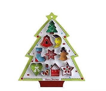 10 unidades – moonvvin increíble 3d Navidad forma Cookie Cutter molde – Ideal para hornear galletas