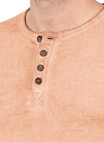 Rose Mahog Courtes solid Homme 100 4203 Chemise À Tihn shirt T Coton Pour Manches wfPxpq7U6P