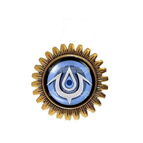 Handmade Fashion Jewelry Cute Gift Eye Symbol Fire Emblem Exalt Brooch Badge Pin Cute Gift Cosplay White - Pins Emblems