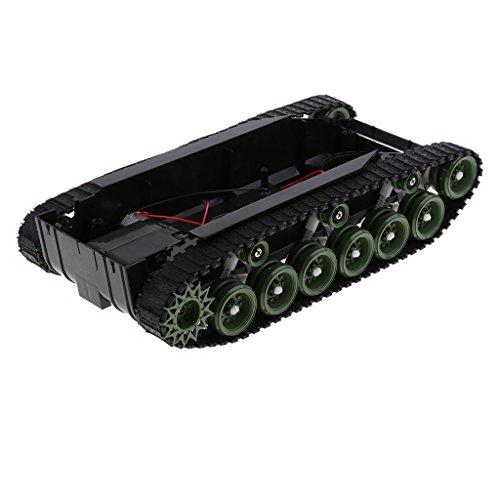 Fenteer 強力260モーター プラスチック製 DIY科学おもちゃ タンクシャーシ ロボットタンク 車のシャーシキット