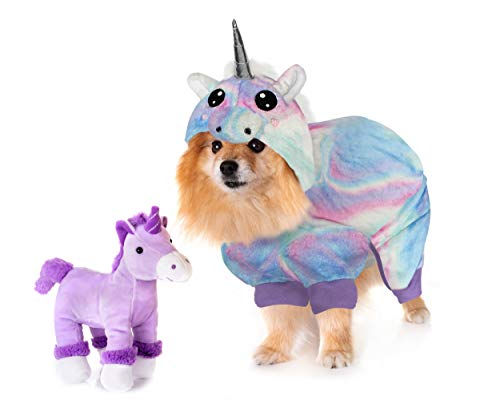 Dog Onesie - The Unicorn by LAURDIY Most Adorable Dog Pajama Outfit, Small]()