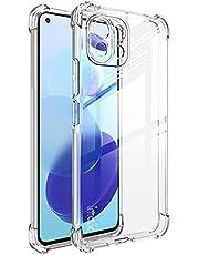 شاومي مي 11 لايت 6.55 بوصة (Xiaomi Mi 11 Lite) جراب خلفى اكريليك مع حواف تغطى الكاميرا بالكامل وحميها - شفاف