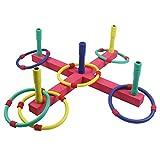 TYDOW Quoits Set Hoopla Outdoor Toys Garden Games For Kids Ring Toss Indoor Throwing Hoops EVA