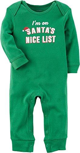 Ait Corporation Carters Carters Holidayim On Santas Nice List 2 Piece Jumpsuit And Santa Bib Set  9 Months