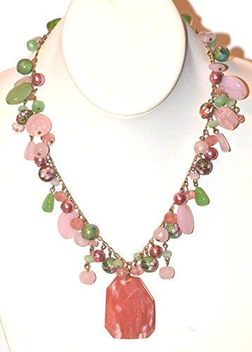 Cherry Quartz Glass Necklace (18