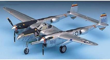 P-38 LIGHTNING ACADEMY 1//48 PLASTIC KIT P-38J, DROOPSNOOT, P-38L /& F-5E