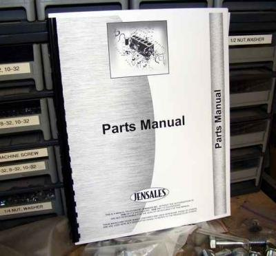 INTERNATIONAL 816 Mower Conditioner or Haybine Parts Manual