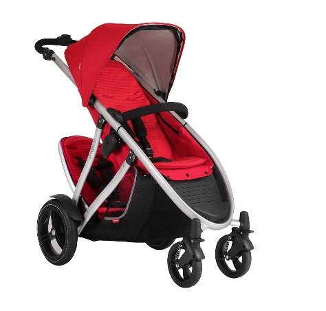 Phil and Teds Verve V3 Stroller With Doubles Kit in Cherry by phil&teds