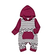 Shop the Look Memela(TM) NEW Fall/Winter Unisex Baby Layette Gift Set Rompers Onesie 0-18mos (3-6 mos)