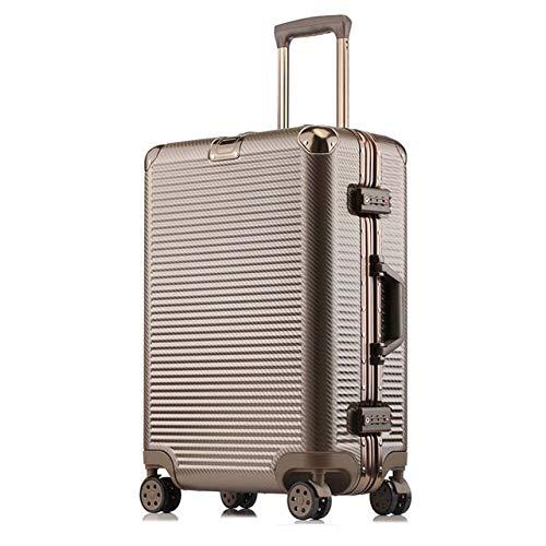 Bolls 高容量クリエイティブローリング荷物スピナースーツケースホイール 20 インチ黒キャビントロリーアルミフレーム旅行バッグ 26\ ブラウン B07QWWTD69